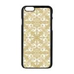 Golden Floral Boho Chic Apple iPhone 6/6S Black Enamel Case Front