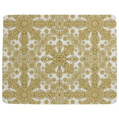 Golden Floral Boho Chic Jigsaw Puzzle Photo Stand (Rectangular)