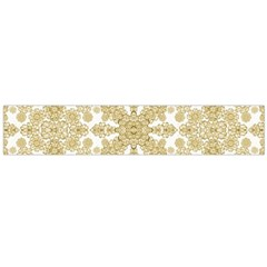 Golden Floral Boho Chic Flano Scarf (Large)