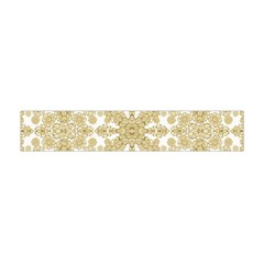 Golden Floral Boho Chic Flano Scarf (Mini)