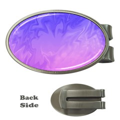 Ombre Purple Pink Money Clips (Oval)