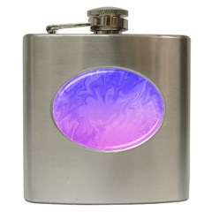Ombre Purple Pink Hip Flask (6 oz)