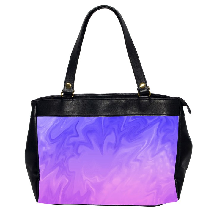 Ombre Purple Pink Office Handbags (2 Sides)