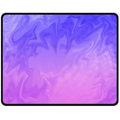 Ombre Purple Pink Fleece Blanket (Medium)