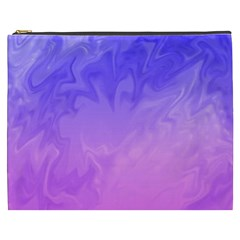 Ombre Purple Pink Cosmetic Bag (XXXL)