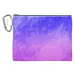 Ombre Purple Pink Canvas Cosmetic Bag (XXL)