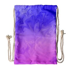 Ombre Purple Pink Drawstring Bag (Large)