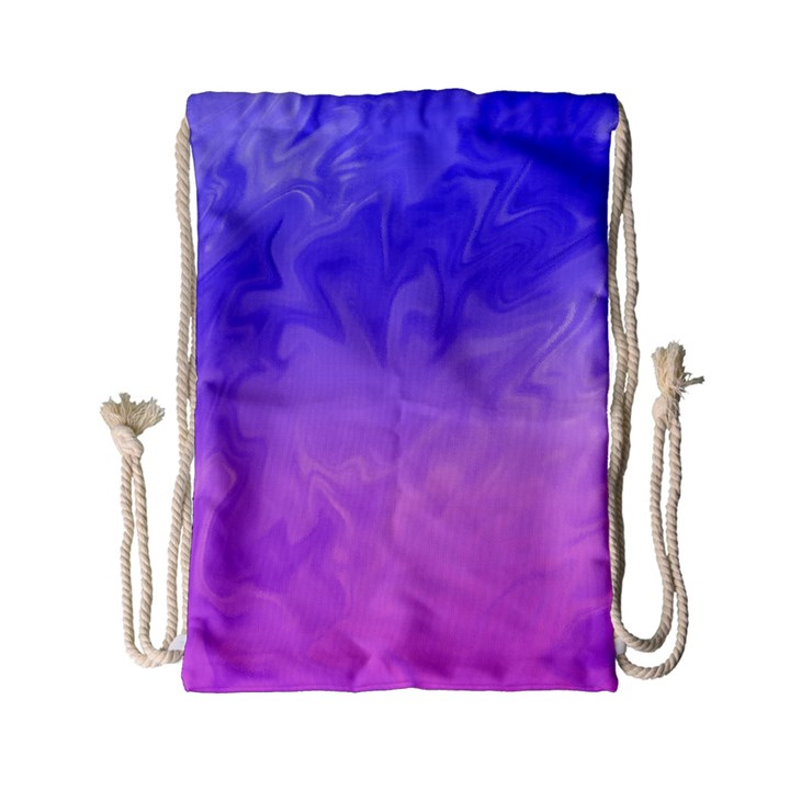Ombre Purple Pink Drawstring Bag (Small)