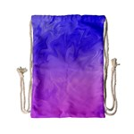 Ombre Purple Pink Drawstring Bag (Small) Back