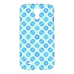 Pastel Turquoise Blue Retro Circles Samsung Galaxy S4 I9500/I9505 Hardshell Case