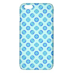 Pastel Turquoise Blue Retro Circles iPhone 6 Plus/6S Plus TPU Case