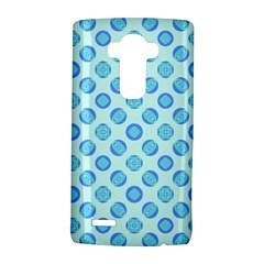 Pastel Turquoise Blue Retro Circles LG G4 Hardshell Case