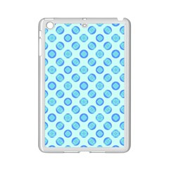 Pastel Turquoise Blue Retro Circles iPad Mini 2 Enamel Coated Cases