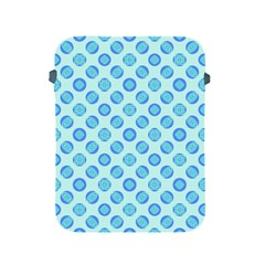 Pastel Turquoise Blue Retro Circles Apple iPad 2/3/4 Protective Soft Cases