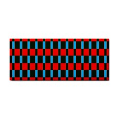 Black red rectangles pattern                                                          			Hand Towel
