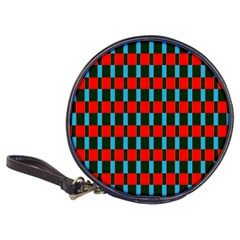 Black red rectangles pattern                                                          Classic 20-CD Wallet