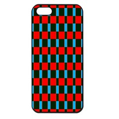 Black Red Rectangles Pattern                                                          apple Iphone 5 Seamless Case (black)