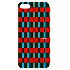 Black red rectangles pattern                                                          			Apple iPhone 5 Hardshell Case with Stand