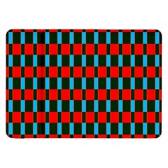 Black Red Rectangles Pattern                                                          			samsung Galaxy Tab 8 9  P7300 Flip Case