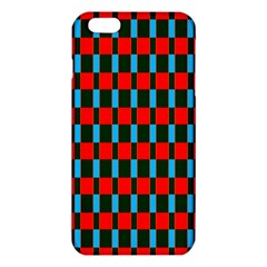 Black red rectangles pattern                                                          			iPhone 6 Plus/6S Plus TPU Case