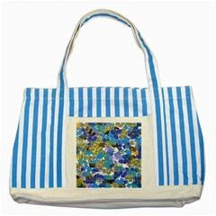 Mixed brushes                                                           Striped Blue Tote Bag