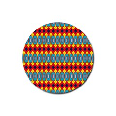 Rhombus and other shapes pattern                                                            Rubber Coaster (Round)