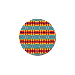 Rhombus and other shapes pattern                                                            Golf Ball Marker (4 pack)
