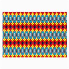 Rhombus and other shapes pattern                                                            Large Glasses Cloth