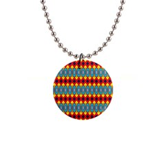 Rhombus And Other Shapes Pattern                                                            1  Button Necklace