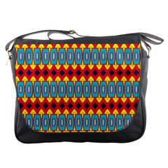 Rhombus and other shapes pattern                                                            Messenger Bag