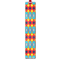Rhombus and other shapes pattern                                                            Large Book Mark