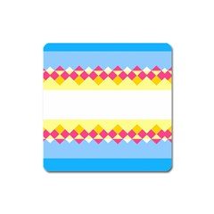 Rhombus and stripes                                                             Magnet (Square)