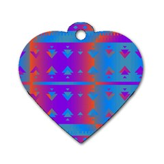 Triangles gradient                                                             Dog Tag Heart (One Side)
