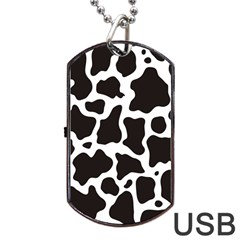Cow Pattern Dog Tag USB Flash (One Side)