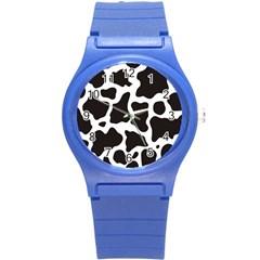 Cow Pattern Round Plastic Sport Watch (S)