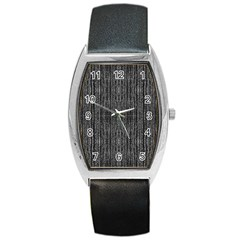 Dark Grunge Texture Barrel Style Metal Watch