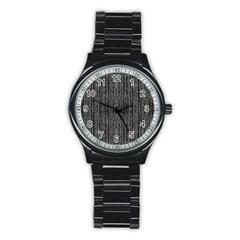 Dark Grunge Texture Stainless Steel Round Watch
