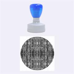 Dark Grunge Texture Rubber Round Stamps (Medium)