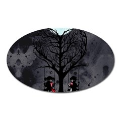 Love Tree Oval Magnet