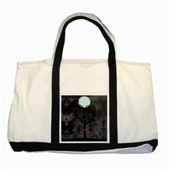 Love Tree Two Tone Tote Bag