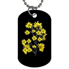 Sunflowers Over Black Dog Tag (Two Sides)