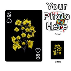 Sunflowers Over Black Playing Cards 54 Designs