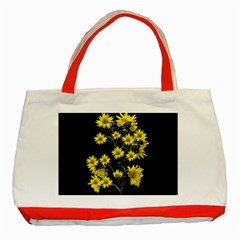 Sunflowers Over Black Classic Tote Bag (Red)
