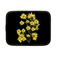 Sunflowers Over Black Netbook Case (Small)