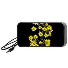 Sunflowers Over Black Portable Speaker (Black)