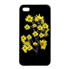 Sunflowers Over Black Apple iPhone 4/4s Seamless Case (Black)
