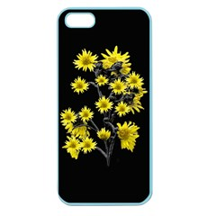 Sunflowers Over Black Apple Seamless iPhone 5 Case (Color)