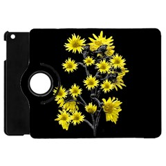 Sunflowers Over Black Apple iPad Mini Flip 360 Case
