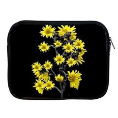 Sunflowers Over Black Apple iPad 2/3/4 Zipper Cases