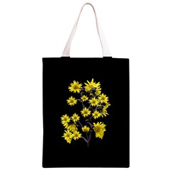 Sunflowers Over Black Classic Light Tote Bag